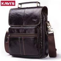 Kavis Натуральная кожа Crossbody Мужская сумка Messenger Seal Mell Man Black Мода Сумки на плечо Мужские Путешествия Новые Сумки Горячие Продажи