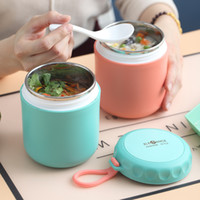Утепленная из нержавеющей стали для обеда из нержавеющей стали Pure Color Portable Coording Sup вакуумная чашка тепла консервация резервуара воды чашки 11JS J2