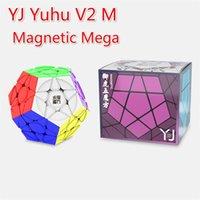 YJ Yuhu megaminxeds v2 m magic cube yj yuhu v2 m mega سرعة لغز 3x3x3 أطفال اللعب ألعاب تعليمية magent mega cube 3x3 201219