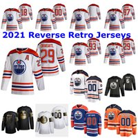 Edmonton Oillers 2021 Обратное Ретро Джерси 39 Алекс Чиассон Джерси 60 Markus GranLund 92 Tomas Jurgo 18 James Neal Custom Shisted Mens