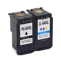 Cartouches d'encre 2pcs PG645 PG645XL PG-645 CL646 CL646XL Compatible pour Canon PIXMA MG2460 MG2560 MG2960 MG2965 MG 2460 MG2500