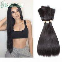 Fairgreat оплет в связках необработанные бразильские волосы девственницы прямые волосы 3 связки нет клея без темы оплетки в девственницах волос