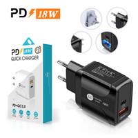 18 W Hızlı Şarj QC 3.0 PD Tipi C USB Duvar Şarj AB ABD İNGILTERE Fiş Adaptörü Cep Telefonu Güç Teslim Şarj Cihazı