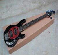 Fábrica al por mayor de alta calidad 5 cuerdas Música hombre Stingray Pickups activos 9V Guitarra de batería Guitarra eléctrica en stock