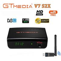 GTMedia V7 S2X HD с USB Wi-Fi DVB-S2 HD спутниковым телевидением Поддержка PowerVu Biss Key Cccamd NewCamd