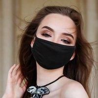 Мода моющиеся защитные лица маски черный хлопок многоразовые взрослые дети анти пыль велосипедные маски рот детская ткань маски