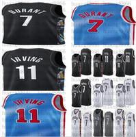 2020 Yeni 7 Kevin 11 NCAA Kyrie Durant Irving Mavi Siyah Basketbol Formaları