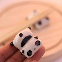 Baguette de style japonais Baguette mignonne Panda Shape Ceramic Ware Cuillère Cuillère Cuillère Baguettes Titulaire Cuisine Vaisselle Vaisselle Décor H Jllrfn