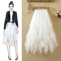 Tule Rokken Faldas Mujer Moda 2020 Fashion Elastic High Taille Mesh Tutu Maxi Plisse Long Midi Saias Jupe Donne Gonna
