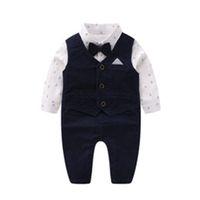 Yenidoğan Bebek Giysileri Yıllar Bahar Modelleri Yelek Romper Çocuk Giyim Bebek Beyefendi Papyon Tırmanma Giyim Elbise Patlama Modelleri