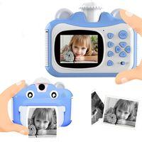 Pickwoo Kid Toy Mini Digital Cámara linda para niños Bebé Juguetes para niños Foto instantánea de impresión Cámara de cumpleaños para niñas Boys 201214