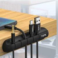 Ganci Guida Cavo Organizzatore del cavo Silicone USB Avvolgitore in ordine Tidy Protector Gestione clip Supporto per Mouse Auricolare Wire1