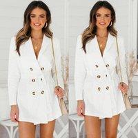 Англия стиль полного рукава женское женское пальто для двубортных пальто элегантных европейских автомат