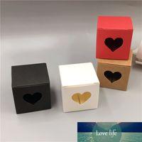 30 stücke Kleinwürfel Kraftpapier Verpackungsbox 5x5x5cm Mini Handgemachte Seife / Kuchen / Candy Box Karton Hochzeit Gunst Verpackung