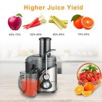 110V 800W Juicer eléctrico de acero inoxidable 1000ml taza de jugo 1500 ml Taza de pomacia Velocidad de tres velocidades Vegetales negros y exprimidor de frutas