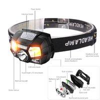 Lámpara de cabeza de carga USB Luz fuerte LED impermeable al aire libre Outdoors Noche Correr Flashlight Faro de la bicicleta 5 Modos 23AK M2