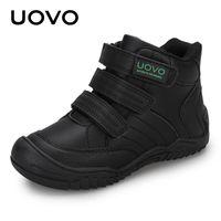 Uovo Новое прибытие школы обувь Mid-теленок Мальчики обувь Мода Дети Спортивная обувь Открытый Дети Повседневный Кроссовки для мальчиков Размер # 26-36 Y1117