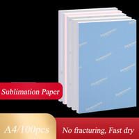 A4 ورقة التسامي 100 ورقة التسامي ورقة نقل الحرارة للطباعة النافثة للحبر طابعة واضح اللون الصحافة نقل الفراغات القابلة للطباعة