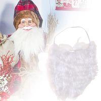 عيد الميلاد المشجعين الكبار الطفل تأثيري الأبيض اللحية سانتا كلوز قبعة ل أبيض باروكة باروكة لحية حزب ديكور