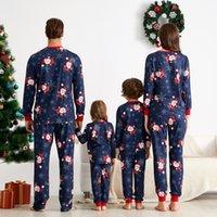 Vestiti di natale genitore-bambino vestito per bambini Casa Sleepwear New Baby Kid Dad Bomm Matching Family Outfits Pigiama della famiglia di Natale