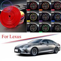 Hub de roue de roue de voiture multi-couleurs de 8 m pour Lexus is es CT LM LS LX NX200 RX GX RC Borge de protection Bague TIRE STOCKERS EN CACHER