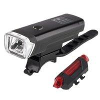 حار دراجة المصباح الذيل أضواء الذيل مجموعة، USB قابلة للشحن دراجة الصمام الأضواء الخلفية الأمامية والخلفية، قوية سوبر مشرق الدراجة lig