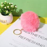 الأزياء أفخم الكرة المفاتيح تقليد الأرنب الفراء الناعمة أفخم الكرة مفتاح سلسلة قلادة أفخم الأمتعة مفتاح حلقة الإبداعية هدية PPF4312