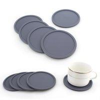 Coloreado ronda de silicona coastito taza de café impermeable resistente al calor taza de taza espesar cojín placemat almohadillas mesa tapetes almohadillas
