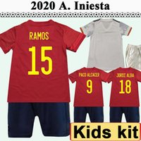 2021 KOKE PEDRI KITS KITS SOCCER JERSEYS MORATA F. TORRES ALBA SARABIA ADAMA Accueil Sergio Ramos Chemises de football Enfant manches courtes