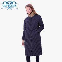 Новый стеганый весенний Autum Женская парка ветрозащитные тонкие женские пальто длинные плюс размер 6xL высокого качества теплый хлопок куртка Ceprask 201119