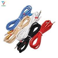 2 m lange nylon vlecht jack 3.5mm audiokabel mannelijke stereo aux kabel m / m hoofdtelefoon kabel voor iphone auto luidspreker oortelefoon MP3 / 4 30PCS