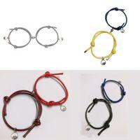Petit bracelet Bell Bracelet Amants à la main Alliage Weave Magnet Hommes Femmes Manuelle Spray Shase Chain Fashion Nouvelle arrivée 3 6SQ P2