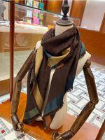 Designer Wolle Seidenschal für Frauen 2020 Neue Damen Winter Tücher Schals Pashmina Mode Lange Ring 140x140cm Weihnachtsgeschenk Dropship A366