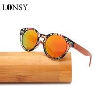 선글라스 수제 수제 럭셔리 대나무 나무 여성 남성 편광 거울 패션 라운드 태양 안경 Gafas Madera