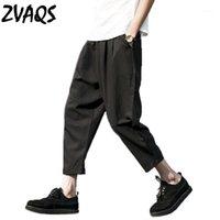Été Nouveau Pantalon Harem Casual Hommes Lâche Longueur de la cheville Pantalons Pantalons de linge large Hommes Plus Taille 5XL Pantalon Homme Zvaqs XT2131