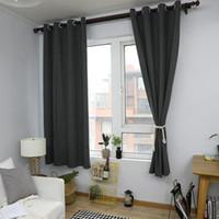 커튼 커튼 커튼 거실 용 회색 린넨 커튼 세미 음영 홈 창 짙어지는 깎아 지른 커튼 침실