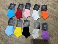 Yüksek Kaliteli Ayak Bileği Çorap Sokak Tarzı Baskılı Şeker Renkler Pamuk Kısa Çorap Erkekler Kadınlar için Çorap