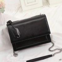 Hohe qualität luxus designer handtaschen sonnenuntergang original leder frauen umhängetaschen mode mittel crossbody tasche frauen kette umhängetaschen