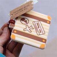 """비행기 카드 """"여행 시작""""빈티지 가방 수하물 태그 결혼식 신부 샤워 호의 파티 선물"""