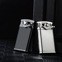 크리 에이 티브 금속 토치 라이터 방풍 가스 라이터 로커 암 자동 점화 담배 라이터 선물 시가 부탄 라이터 VTKY2381