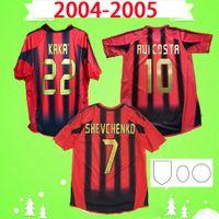 AC MILAN 2004 2005 Футболка в стиле ретро 04 05 home red black milan classic Винтажная футбольная футболка NESTA AC INZAGHI SHEVCHENKO PIRLO KAKA MALDINI