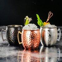 1 шт. Медная кружка из нержавеющей стали пивная чашка Московская кружка Марк чашка розового золота забитый медью