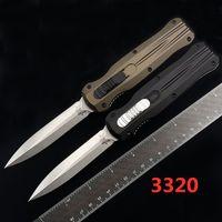 Benchmade BM 3320 Infidel Çift Aksiyon Katlanır Otomatik Bıçak D2 Bıçak Açık Cep Oto Taktik Survival BM3300 3400 Bıçaklar