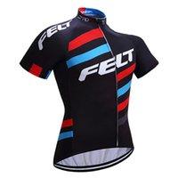 Alta calidad 2019 Fieltro Team Cycling Jersey Mountian Bike Ropa Al aire libre transpirable MTB Ropa de bicicleta de manga corta de secado rápido 010704Y
