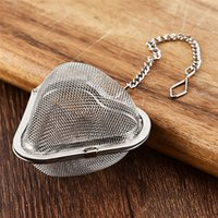 Separador de té de acero inoxidable Locking Spice Malla Infusor Bola de té Filtro para Tetera Forma de corazón Té Infusor