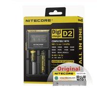 Nitecore D4 D2 I4 I2 Digicharger LCD Circuitos Inteligentes Seguro Global Li-ion 18650 14500 16340 26650 Carregador de bateria 1 pc / lote