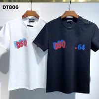 DSQ PHANTOM TURTLE 2021SS New Mens Designer T shirt Paris fashion Tshirts Summer DSQ Pattern T-shirt Male Top Quality 100% Cotton Top 1056