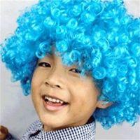 Heiße große Haarperücken Multicolor Lustige Clown Perücke Männer Frauen Party Kopfbedeckung für Fan Parties Lieferungen 5 2JH E1