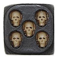 Череп кости творческие кости закругленные угловые кости много декоративные кубики бозонов игрушка забавная семейная игра для вечеринки