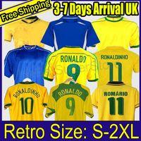 1998 Brasil Soccer Jerseys 2002 Retro Shirts Carlos Romario Ronaldo Ronaldinho 2004 Camisa de Futebol 1994 البرازيل 2006 1982 Rivaldo Adriano